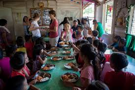 christmas party at atmosphere resorts soup kitchen