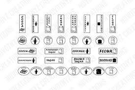 kitchen labels svg pantry labels svg canister labels svg labels