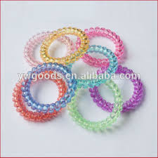 elastic hair bands fashion elastic hair bands telephone line shaped hair ties