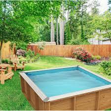 piscine petite taille piscine hors sol bois pistoche l 2 26 x l 2 26 x h 0 67 m leroy