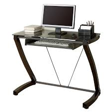 Small Metal Computer Desk Shop Monarch Specialties Cappuccino Metal Computer Desk At Lowes