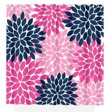 Navy And Pink Curtains Best Flower Burst Shower Curtain Products On Wanelo