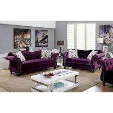 Sofa Living Room Set Shop For Furniture Of America Dessie Traditional 3 Tufted
