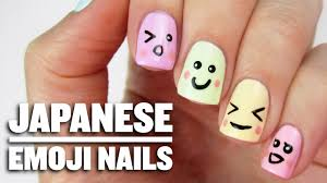 cute japanese emoji nails youtube