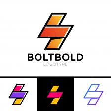 electrical logo concept lightning bolt minimal simple symbol