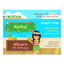 hawaiian party invitations u0026 announcements zazzle co uk