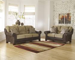 Chenille Living Room Furniture by Two Tone Sofa With Chenille Fabric Faux Leather Upholstery By