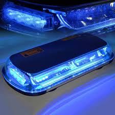 magnetic base strobe light blue 44 led emergency strobe light with magnetic base