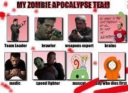 Zombie Team Meme - my zombie apocalypse team meme by missanthrop523 on deviantart