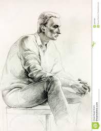 man sitting sketch stock illustration image of historic 26867586