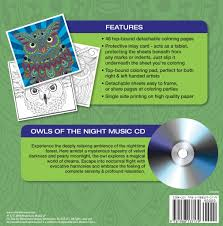 owls coloring book relaxation cd color music