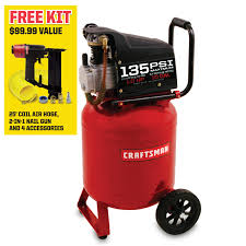 craftsman 10 gallon 1 hp oil lubricated air compressor shop your