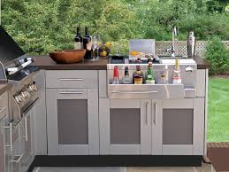 Kitchen  Gray Jordan Outdoor Kitchens Traditional Patio Wood - Outdoor kitchen cabinets polymer