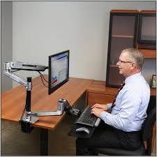 Ergotron Sit Stand Desk Ergotron Sit Stand Desk Mount System For Workfit Lx Workstation