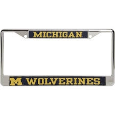 michigan state alumni license plate frame michigan wolverines license plates of michigan license