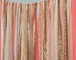 Pink Sparkle Curtains Pink Gold Sparkle Sequin Garland Curtain With Lace Nursery