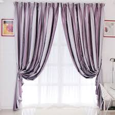 Grey And Purple Curtains Grey And Purple Stripe Curtains Are Presented In Modern Style
