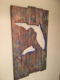 painted wood artwork 24 best reclaimed pallet wall images on pallet