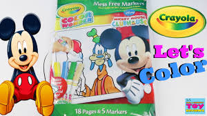 disney mickey mouse color crayola coloring pack toy review