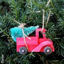 diy ornament idea rustic tree truck darice