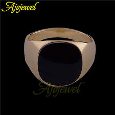 size 7 13 2015 new 18k plated classic gold men rings black wholesale size 6 5 12 5 2015 new 18k plated classic gold men rings