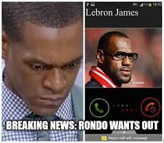 Celtics Memes - nba memes on twitter lebron james calls rajon rondo cavs