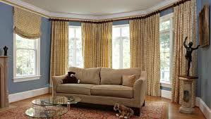 Bay Window Window Treatments Style Ideas Window Treatment With Patterns Casa Latina Interior