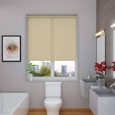 Colourful Roller Blind Bathroom Splash Hessian Roller Blind
