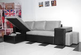 canapé d angle noir et gris bestmobilier canapé d angle réversible nevada noir gris achat