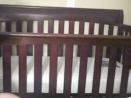 new dark cherry wood crib 72 in decoration ideas design with dark