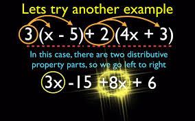 algebra distributive and combining like term part 2 youtube