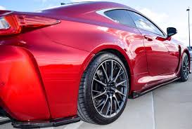 lexus rc red carbon fiber side skirts