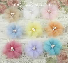 tulle flowers fabric tulle flower tutorial flowers tutorials
