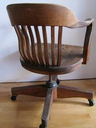 Swivel Chairs For Office by Oak Desk Chair Art Deco Swivel Tilting Rolling Office Chair