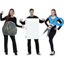 Softball Halloween Costumes Rock Paper Scissors Halloween Costume Walmart