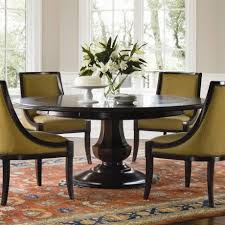 Damask Round Rug Beige Dining Chair With Curve Arm And Black Wood Frame Also Round