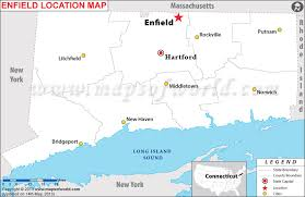 connecticut on map where is enfield located in connecticut usa