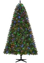 7 5 ft pre lit led wesley artificial tree with color