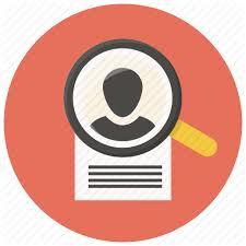 cv search search resume document profile portfolio curriculum cv icon