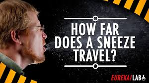 Diy science how far does a sneeze travel snot science