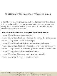 writing skills in resume top8itenterprisearchitectresumesamples 150723081614 lva1 app6891 thumbnail 4 jpg cb 1437639421