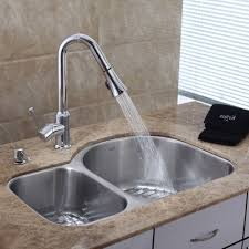 Stainless Faucets Kitchen Kitchen Fascinating Single Bowl Sink Stainless Steel Double Handle