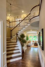 Dark Wood Banister Dark Wood Stair Risers Staircase Traditional With White Stringer