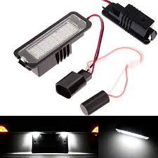 2x 18 led error free auto light number license plate light bulbs