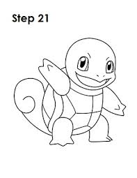 pokemon squirtle coloring pages how to draw squirtle