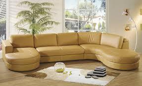 Leather U Shaped Sofa Furniture Leather U Shape Curved Sectional Sofa Set With