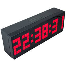 wall mounted digital alarm clock amazon com chihai digital led clock wall alarm digital calendar