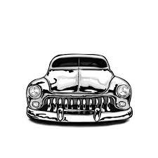 ford mercury car tattoo flash design