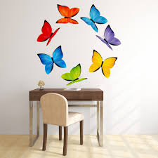 rainbow butterfly wall sticker set animal butterfly wall decal rainbow butterfly wall sticker set animal butterfly wall decal girls room decor