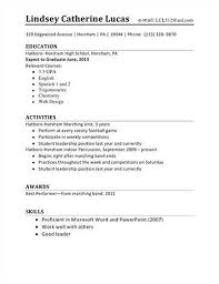 examples of resumes for high students sample resumes for